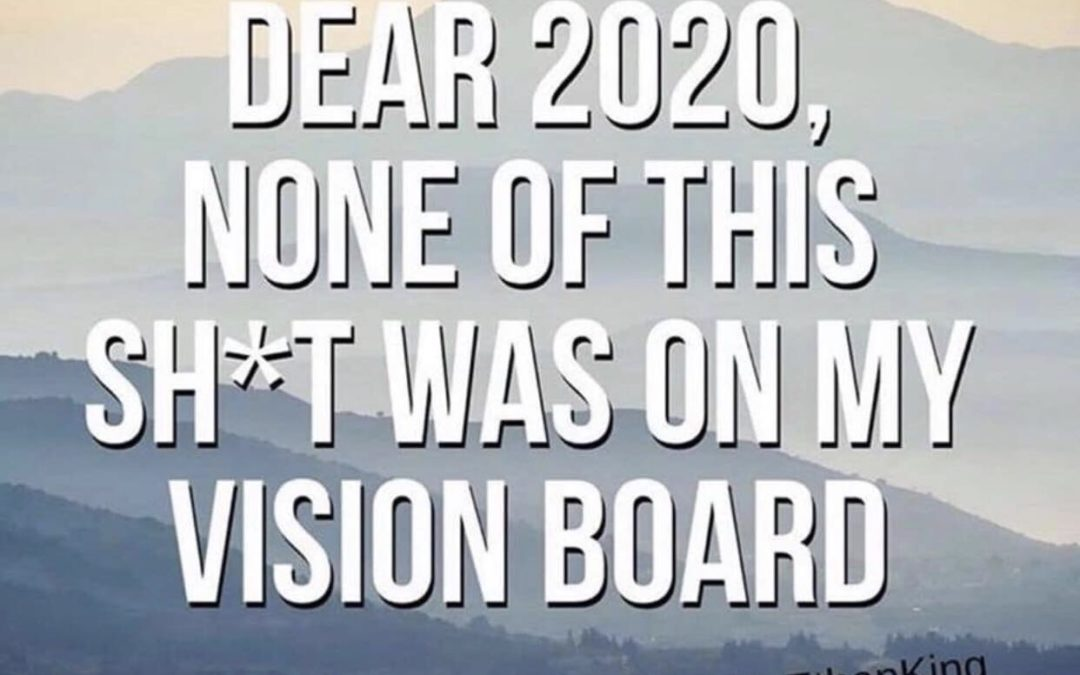 NONE of this was on my vision board…or, was it?